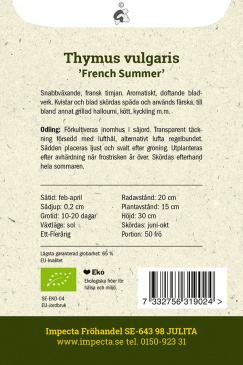 Sommartimjan 'French Summer'