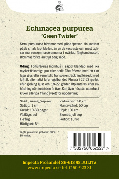Röd Solhatt 'Green Twister'