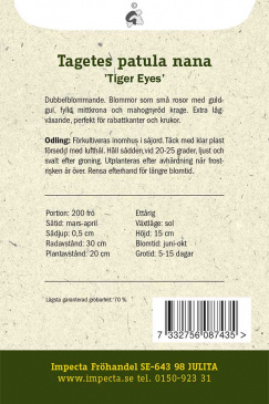 Sammetstagetes 'Tiger Eyes'
