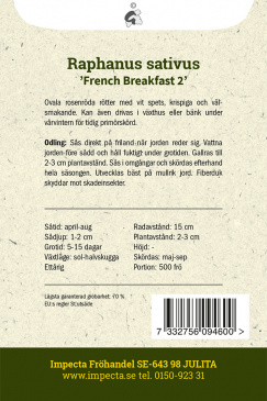 Rädisa 'French Breakfast 2'
