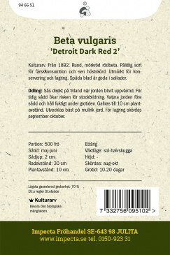 Rödbeta 'Detroit Dark Red 2'