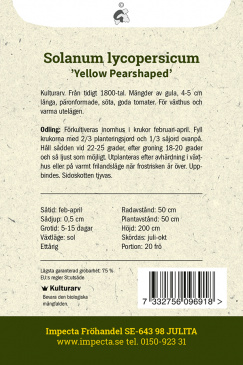 Pärontomat 'Yellow Pearshaped'
