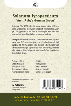 Bifftomat 'Aunt Ruby's German Green'