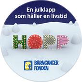 10:- för varje order fram till jul går till Barncancerfonden