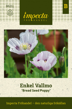 Enkel Vallmo 'Bread Seed  Poppy' fröpåse Impecta