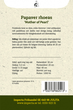 Kornvallmo 'Mother Of Pearl'