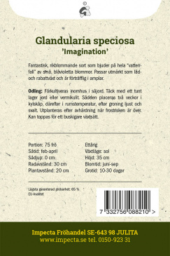 Stor Hängverbena 'Imagination' fröpåse baksida Impecta