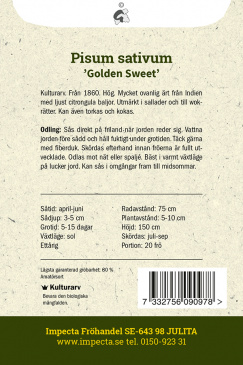 Sockerärt 'Golden Sweet'